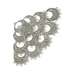 20pcs Silver Tone 1to5 Connectors Findings 27*34mm