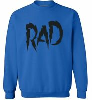 Rad Dad Sweatshirt Crewneck Cool Dad Best Dad Ever Father`s Day Gift for Him