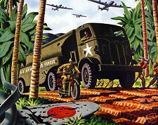 1944 Autocar Truck, US ARMY AIR FORCES, WWII, Refrigerator Magnet,40 MIL