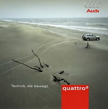 Prospekt Audi quattro Technik die bewegt 1 03 2003 Technologie Physik Dynamik