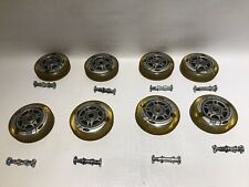 8- ROLLERBLADE WHEELS 80mm 78A with ABEC 5 Bearings bolts and nuts