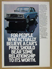 1982 Volvo GL Sedan blue car color photo vintage print Ad