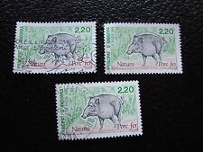 ANDORRE (francais) - timbre yvert et tellier n° 382 x3 obl (A30) stamp andorra