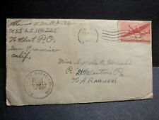 USS LCI(G)-725 Naval Cover 1945 Censored WWII Sailor's Mail w/ letter