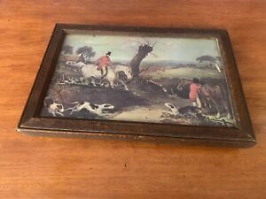Vintage Antique Hunting Painting