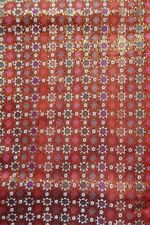 *77cm Wide X 270cm Long Japanese Red & Gold Brocade Fabric