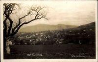 Kout na Šumavě Kauth s/w AK ~1920/30 Gesamtansicht Panorama Berge im Hintergrund