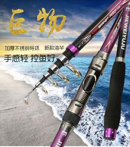 New Fishing Rods Super Hard Carbon Fiber Telescopic Spinning Travel Fishing Pole