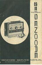 Sencore Cadet Color Generator CG18  Service Manual circa 1970s