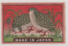 MATCHBOX LABEL JAPAN, Birds