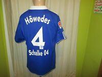 "FC Schalke 04 Original Adidas Heim Trikot 2010/11 ""GAZPROM"" + Nr.4 Höwedes Gr.L"