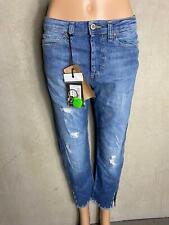 PLEASE - Jeans  Boyfriend P1CY mit Zierperlen  blau -. NEU Gr XS 34 1061a