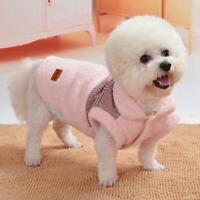 Winter Jumper Cute Pet Dog Clothes Warm Sleepwear Pajamas Costume Buckle Design