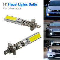 2x H1 SMD LED COBXénon 6000K 7.5W Feux Phare Brouillard LampeDRL AmpouleBlanc
