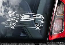 Ford Fiesta-Coche de Carreras de etiqueta de la ventana-foro propietarios Club GTI ZETEC ST MK7/MK8