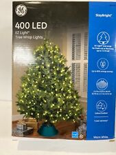 New GE staybright tree wrap 400 LED light indoor outdoor venue wedding White