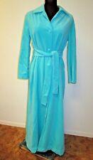 Vintage Vanity Fair Women's Velour Robe Sz 12 (S-M) Long button front belted 70s