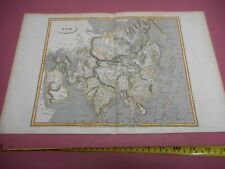 100% ORIGINAL LARGE ASIA CHINA INDIA  MAP BY ARROWSMITH C1806 VGC HAND COLOURED
