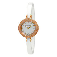 Bvlgari B.zero1 White Lacquered Dial White Ceramic Bangle Bracelet Ladies Watch