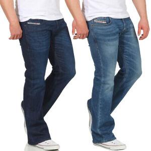 Diesel Herren Jeans Zathan Hose Bootcut Weites Bein Regular Männer Jeanshose