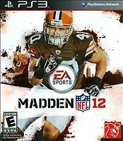 Madden NFL 12 PS3 (Sony Playstation 3, 2011) NEW FACTORY SEALED!