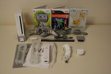 Nintendo Wii White Console Bundle ~ Controller ~ 3 x Family Fun Games - FREE P+P