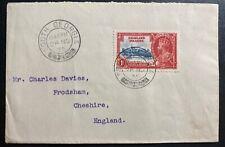 1935 South Georgia Falkland Islands Cover To Frodsham England Jubilee Stamp