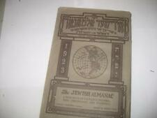YIDDISH 1924 New York דער אידישער אלמאנאך THE JEWISH ALMANAC edi. by V. Mirsky