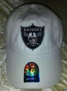 Las Vegas Raiders Womens Sparkle 47 Brand Rhinestone Bling NFL Cap Hat ~NEW~