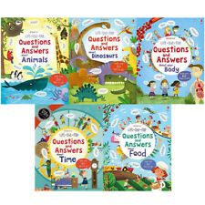Usborne Lift The Flap Collection 5 Books Set Opposites Counting Book Pack