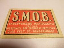 Etiquette Allumette - S.M.O.B - DENDERMONDE - (120)