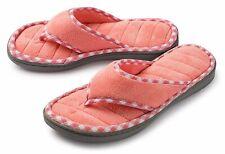 Roxoni Women's Slippers Cozy Terry Spa Memory Foam Thong Flip Flops Indoor