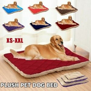 Large Pet Cat Dog Mat Bed Fleece Warm Nest Pad Cushion Tear Resistant Washable