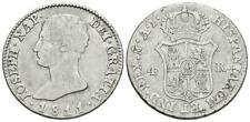 SPAIN COIN JOSE NAPOLEON 4 REALES 1811 MADRID AL PLATA SILVER ORIGINAL MAGNIFICA