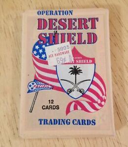 Vintage Operation Desert Shield Storm Trading Card Pack Iraq War Persian Gulf