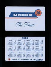 1958 Union 76 Oil Company Wallet Calendar Card