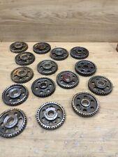 Industrial Machine Age Steel Lot 15 Gears/Cogs Steampunk Art Parts Lamp Base
