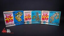 Vintage Waddingtons Shaped Jig-maps Puzzle Australia, British Isles, Scandinavia