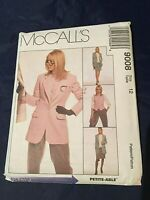 McCall's 1990s Sewing Pattern Lined Jacket, Vest, Pants, Skirt Size 12 Uncut