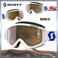 Google Recoil xi White/red Gold Chrome Len Scott Eye Protection