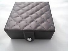 NEW IN BOX SWAROVSKI JEWELRY RING STORAGE BOX SILVER GRAY PADDED Limited Edition