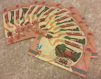 Lot Of 10 X Madagascar Banknotes. 500 Ariary. 2017 Series. Uncirculated Notes.
