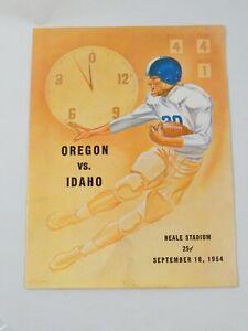 1954 OREGON VS IDAHO NEALE STADIUM PROGRAM