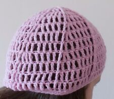 Handmade crochet mash hat pink