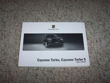 2009 Porsche Cayenne Turbo & Cayenne Turbo S Owner User Manual Book 4.8L V8
