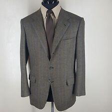 BRIONI 100% Cashmere Subtle Plaid  Sport Coat  3 Btn  No Vents  Fit 40-42 Reg