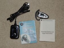 Motorola H500 Wireless Bluetooth Headset With Power Cord & Manual Gently Used