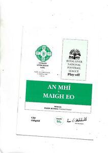 GAA Football  1990 National League play off  Meath V Mayo