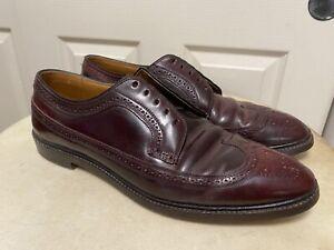 Vintage Knapp Bros. Genuine Shell Cordovan Longwing Wingtip V-Cleat Shoes 12 B