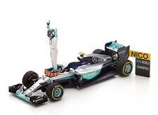 Spark 1:43 Mercedes W07 Hybrid - Abu Dhabi F1 GP - 2016 World Champ Nico Rosberg